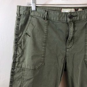 Hei Hei skinny olive cargo trousers size 12